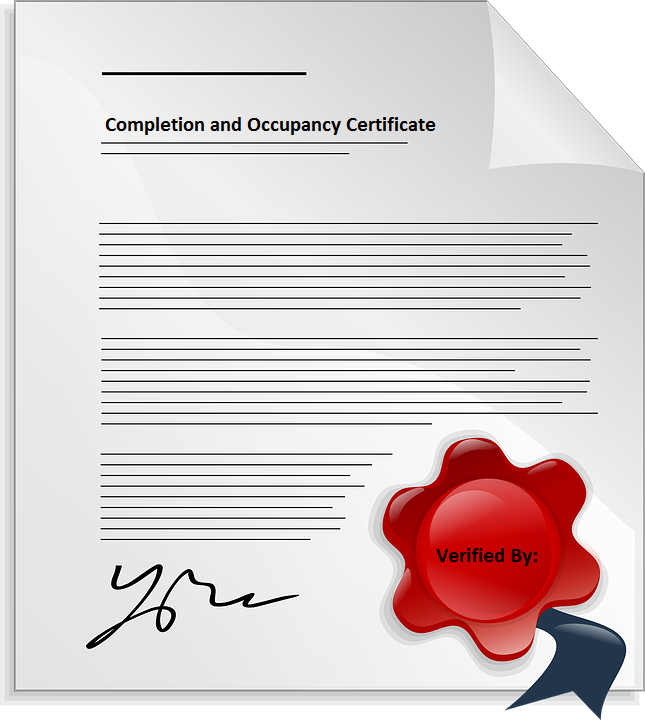 Completion and Occupancy Certificate